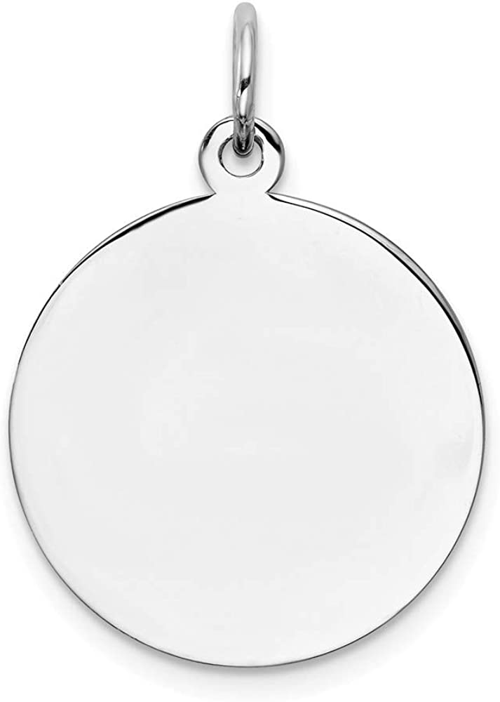 Gold-Plated Sterling Silver Engravable Heart Polished Disc Charm
