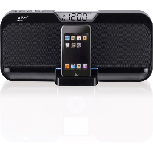 amazon com ilive is208b stereo speaker system with ipod dock black rh amazon com Ilive Docking System Ilive All in One