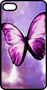 Magical Purple Butterfly Tinted Rubber Case for Apple iPhone 4 or iPhone 4s