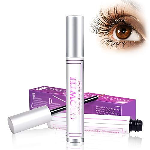 Eyelash Growth Serum - 100% Natural Lash Boost Growth Serum,Lash & Eyebrow Enhancer Growth Serum For Long, Luscious Lashes and Eyebrows(5ML)