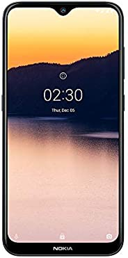 Smartphone Nokia 2.3 com tela de 6.2 polegadas, 32GB de armazenamento e 2GB de RAM, câmera traseira dupla de 1