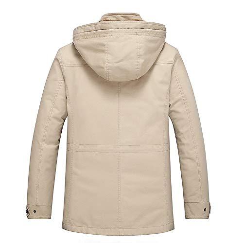 Winter Coats Men, Sunyastor Fashion Fur Collar Hoodied Warm ...