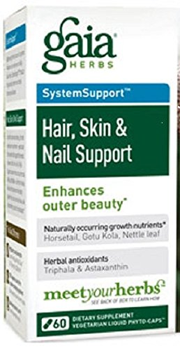 Gaia Herbs - Skin Nail Support 60 cap (3 pack)