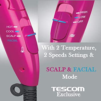 Tescom Collagen, Platinum and Nano-Sized Mist 1500-Watt Hair dryer – First and only Beauty Collagen Hair Dryer Made in Japan