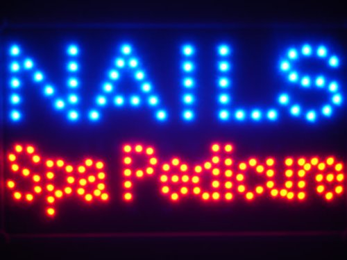 ADV PRO led097-b Nails Spa Pedicure Led Neon Sign WhiteBoard ...