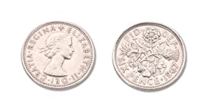 Darice 1403-15, Sixpence For Your Bridal Shoe On Card