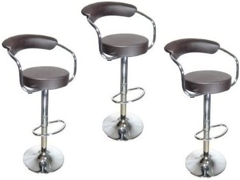 South Mission Brown – Omicron Kitchen Padded Bar Stool Set of 3