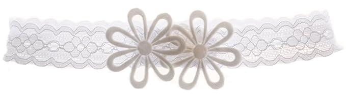 Stirnband Haarband Kopfband Weiß Baby Kopfschmuck Taufe  NEU Haarschmuck