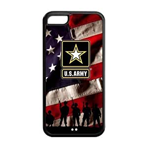 """Sunbeam DIY US Army American Flag Custom Case Cover For iPhone 6 5.5""""(Laser Technology)"""