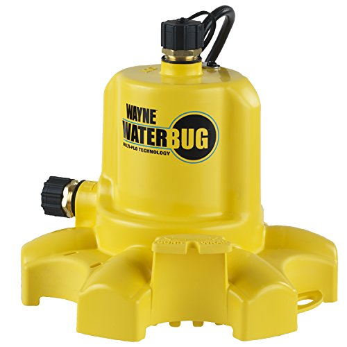 WAYNE WWB WaterBUG Submersible Pump with Multi-Flo -