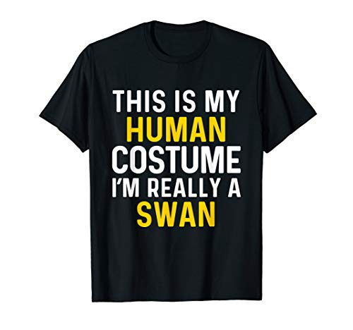 I'm Really a Swan Halloween T Shirt Funny Costume Gift ()