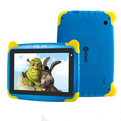 Contixo Kids Tablet K4 | 7 Display Android 6.0 Bluetooth WiFi Camera Parental Control for Children Infant Toddlers (Blue)