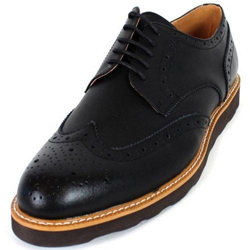 New Mooda Aileron En Cuir Décontracté Robe Oxford Mens Confort Chaussures Noir