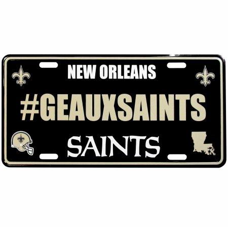 - Siskiyou NFL New Orleans Saints Hashtag License Plate, 18