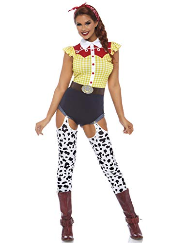 Leg Avenue Womens Giddy Up Cowgirl Costume, Multi,