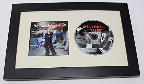 Avril Lavigne Let Go Signed Autographed Music Cd Insert Framed Display Loa