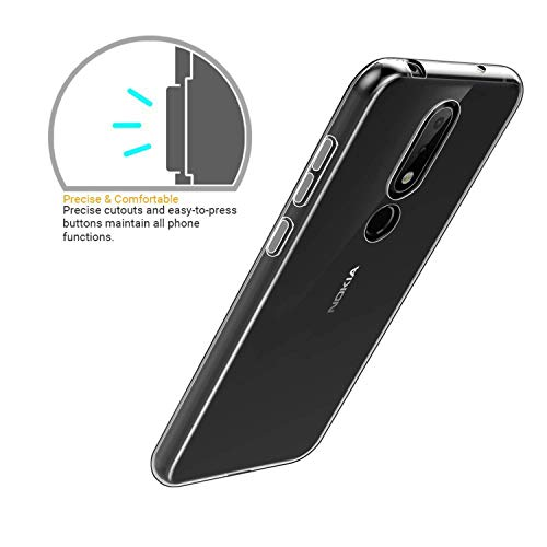 lowest price f373f 440aa Newlike Bumper Protective & Anti Shockproof Back Case For Nokia 6.1 Plus  2018 Back Cover Case - Transparent
