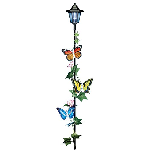 Solar Butterfly Garden Lamp Multi