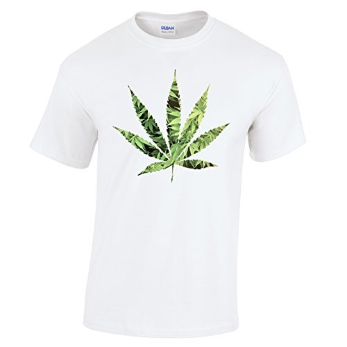 Tim And Ted Marajuana Leaf Cannabis Dope Printed Design Logo Mens T-Shirt Father Ted Christmas Episode