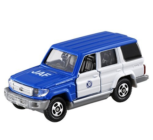 Japan Import Tomica No.44 Toyota Land Cruiser JAF Road Service car (BP) (Toyota Road Service)