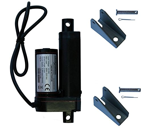 2 Inch 2 Stroke Linear Actuator 12 Volt 12V 225 Pounds lbs Maximum Lift (Includes Mounting Brackets)