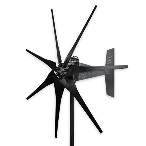 - MWANDS.COM, LLC 1600 Watt 7 Blade Missouri Freedom 3 Sealed Wind Turbine (Black)