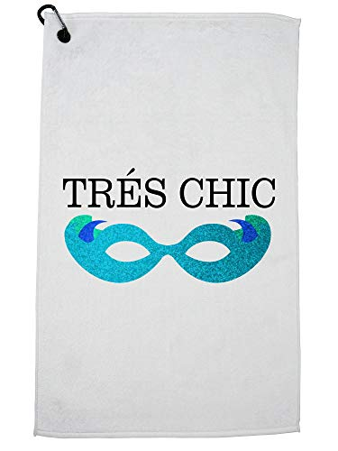 Hollywood Thread Fancy Tres Chic Frech Glasses Golf Towel with Carabiner Clip ()