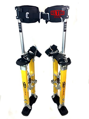 SurPro SP Quad Lock Single Legs Support Magnesium Drywall Stilts 24-40 in. (SUR-SP-2440MP) Newest Model (Sp Drywall)
