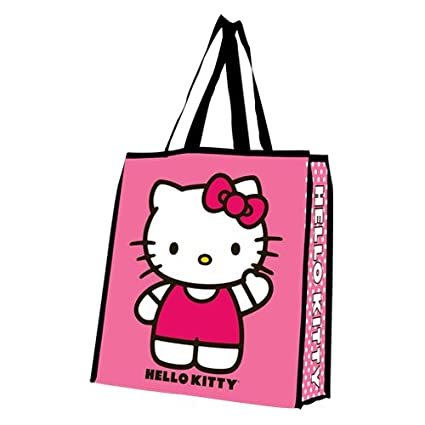 26c05db9d2 Amazon.com  Vandor 18073 Hello Kitty Large Recycled Shopper Tote ...