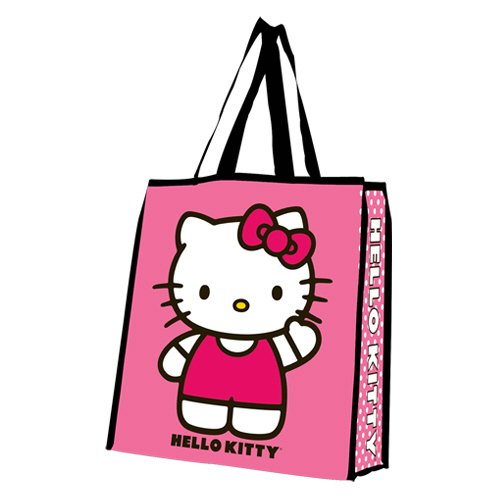 - Vandor 18073 Hello Kitty Large Recycled Shopper Tote, Pink