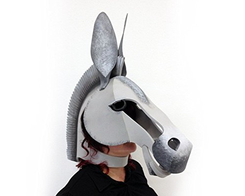 [Donkey Mask, Midsummer Night's Dream. Ready to Ship. Handmade. Animal friendly gray costume head for Adults and] (Midsummer Nights Dream Costumes Bottom)