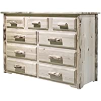 Montana Woodworks MW9D Montana Collection 9-Drawer Dresser, Ready to Finish