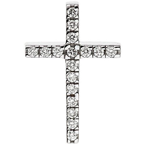 Jobo Pendentif en forme de croix étroit en or blanc 58517diamants brillants Diamant Croix