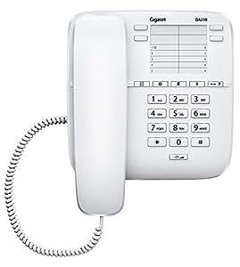 Siemens DA310 - Teléfono fijo, 4 teclas de marcación directa, color blanco