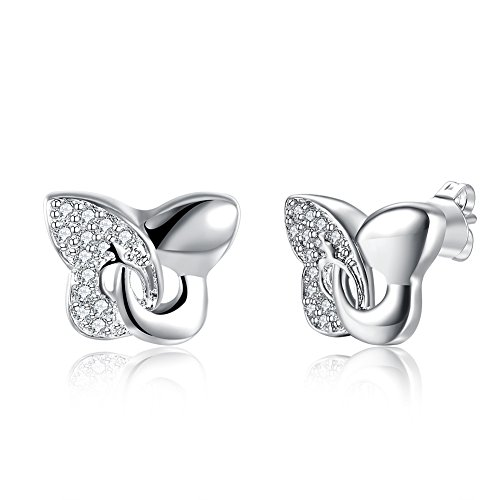 Butterfly Silver Ladies Earrings Fashion Earrings