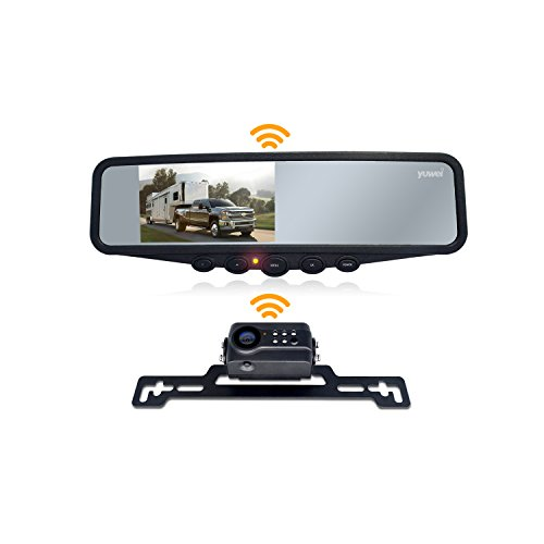 Wireless Backup Camera System, IP69K Waterproof Wireless License Plate Rear View Camera, Night Vision and 4.3'' Wireless Mirror Monitor for Cars, Trailer, RV, Pickup Trucks, Cargo Vans, etc. by yuwei (Image #7)