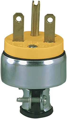 - Eaton 2866 15 Amp 250V 6-15 Heavy Duty Grade Armored Plug