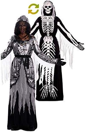 EUROCARNAVALES Disfraz Doble de La Muerte y Sirena Esqueleto para ...