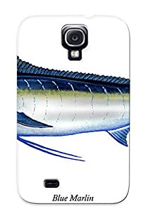 Premium Protection Blue Marlin Case Cover With Design For Galaxy S4- Retail Packaging