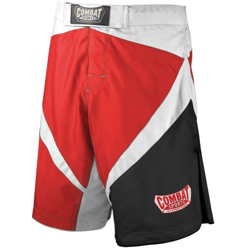 Red Mma Fight Shorts (Combat Sports Fight MMA Boardshorts (Red, White, Black, 32))