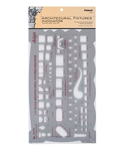 Pickett Architectural Fixtures Indicator Template, Scale 1/4 Inch = 1 Foot (101PI)