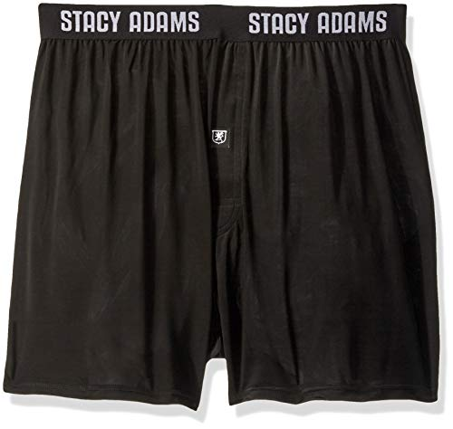 STACY ADAMS Men's Boxer Short, Black, X-Large