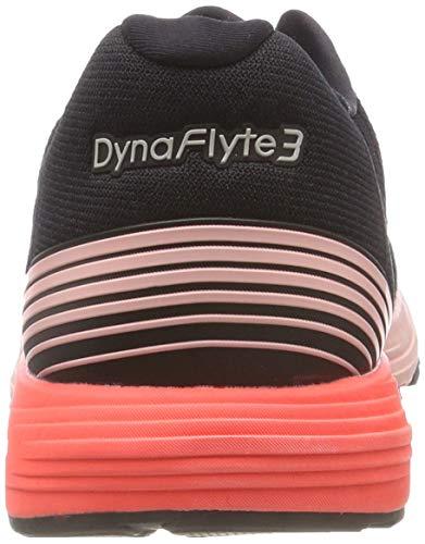 Femmes Pour Noir Chaussures Asics Rose Dynaflyte 3 De Corail Course YW0OfW
