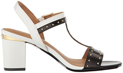 Klein White Dress Black Women's Plat Sandal Carline Calvin ATRZnvWZ