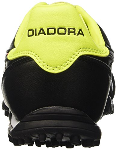 Diadora Brasil Lt Tf, Botas de Fútbol para Hombre Nero (Nero/Giallo Fluo Diadora)