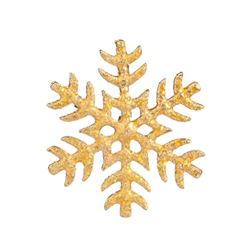 Lux Accessories Frozen Glitter Snow Flake Xmas Christmas Snowflake Brooch Pin from Lux Accessories