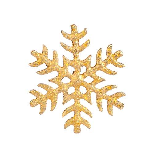 Swarovski Snowflake Pin - Lux Accessories Frozen Glitter Snow Flake Xmas Christmas Snowflake Brooch Pin