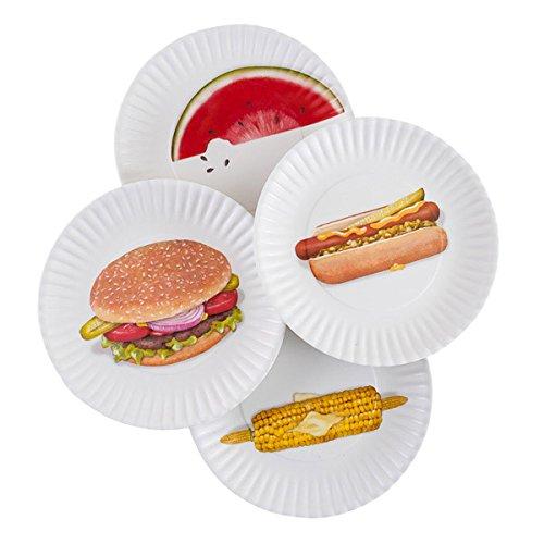 Mary Lake-Thompson BBQ Picnic 9-inch Melamine Plates, Set of 4 ()