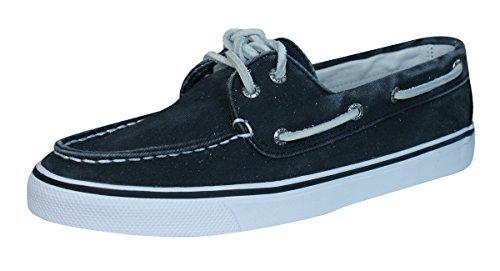 para Zapatos Sperry Black de mujer lona cordones de wpx8qgX