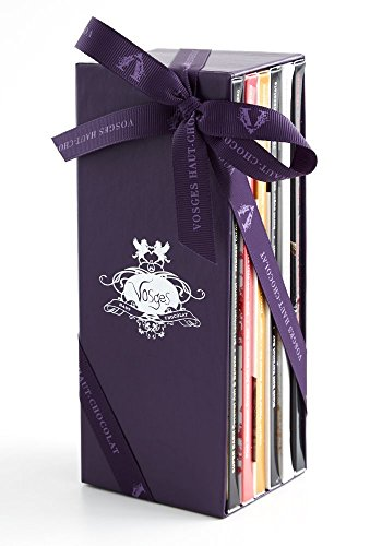 Vosges Haut-Chocolat A Library of Exotic Chocolate Bars, Original/Milk Bacon, 6 Count (Bar Chocolat)